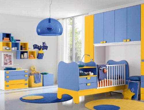 Cameretta Baby gialla azzurra