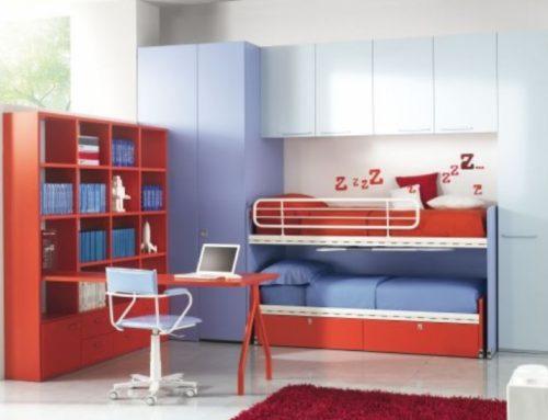 Cameretta rossa e blu